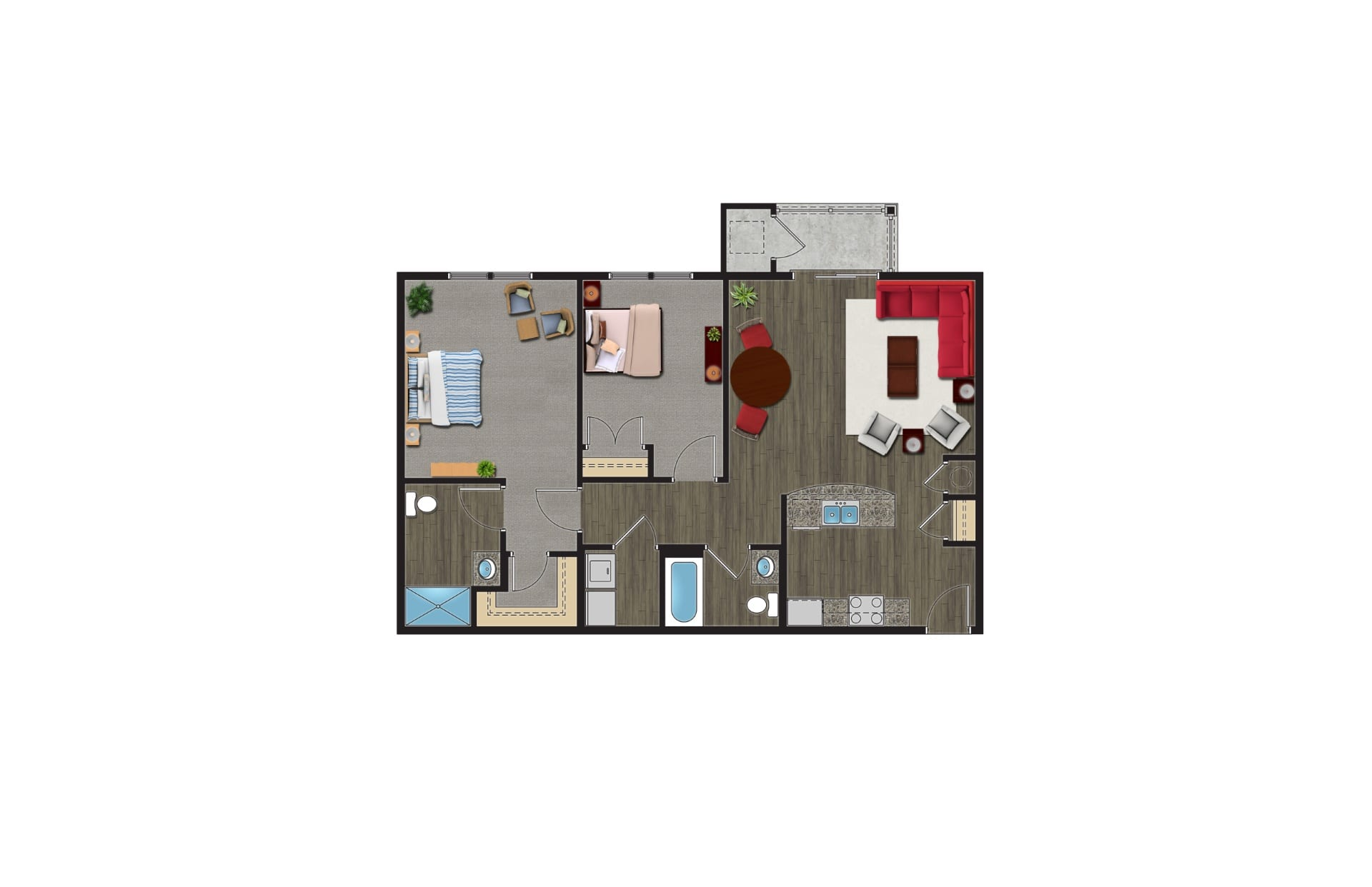 The Linden Floor Plan, Luxury Apartments with Garages for rent. A 2 Bedroom Apartment in Orchard Park NY are pet friendly apartments.