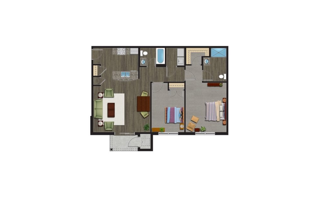 The Eastern Floor Plan, Luxury Apartments with Garages for rent. A 2 Bedroom Apartment in Orchard Park NY are pet friendly apartments.